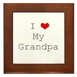 I Heart My Grandpa Framed Tile