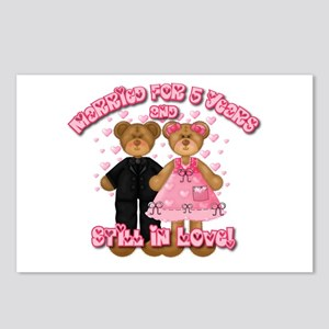 5th Anniversay Teddy Bears Postcards (Package of 8