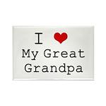 I Heart My Great Grandpa Rectangle Magnet (100 pac