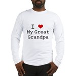 I Heart My Great Grandpa Long Sleeve T-Shirt