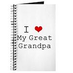 I Heart My Great Grandpa Journal