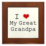 I Heart My Great Grandpa Framed Tile
