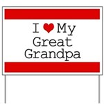 I Heart My Great Grandpa Yard Sign