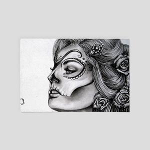 Dia De Los Muertos Drawing 4' x 6' Rug