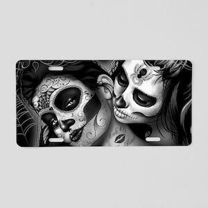 Dia De Los Muertos Aluminum License Plate