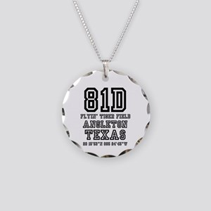 US - TEXAS - AIRFIELD CODES Necklace Circle Charm