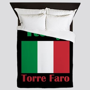Torre Faro Italy Queen Duvet
