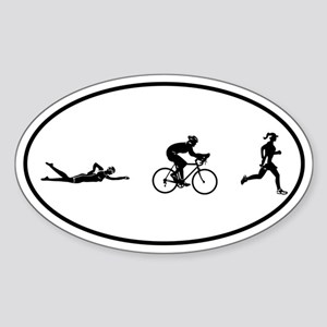 Women's Triathlon Icons Oval Sticker