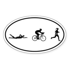 Women's Triathlon Icons Oval Sticker