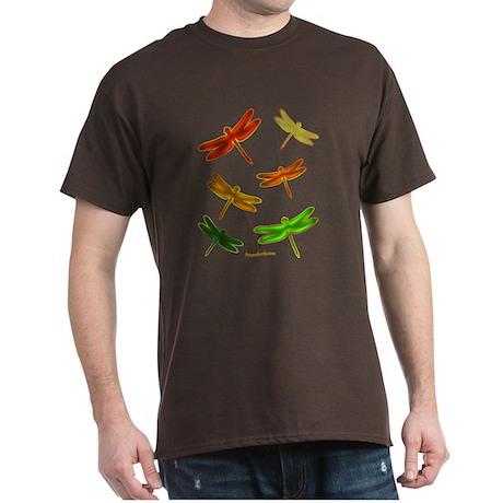 Amber Dragonflies Dark T-Shirt