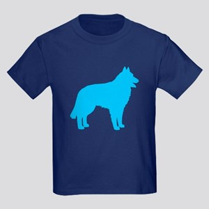 Blue Belgian Sheepdog Kids Dark T-Shirt