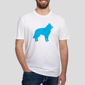Blue Belgian Sheepdog Fitted T-Shirt