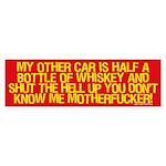 Half a Bottle of Whiskey sticker