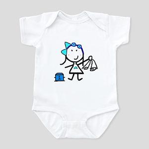 Girl & Swimming Infant Bodysuit