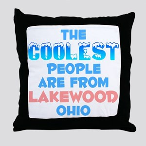 Coolest: Lakewood, OH Throw Pillow