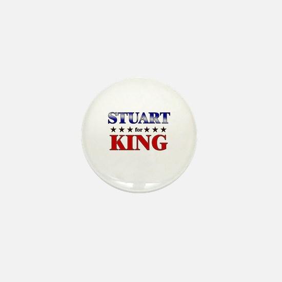 STUART for king Mini Button