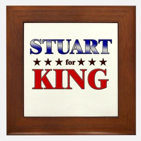 STUART for king Framed Tile