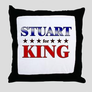 STUART for king Throw Pillow
