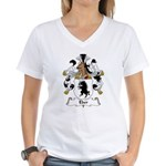 Eber Family Crest Women's V-Neck T-Shirt
