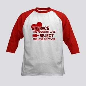 Reject the love of power Kids Baseball Jersey