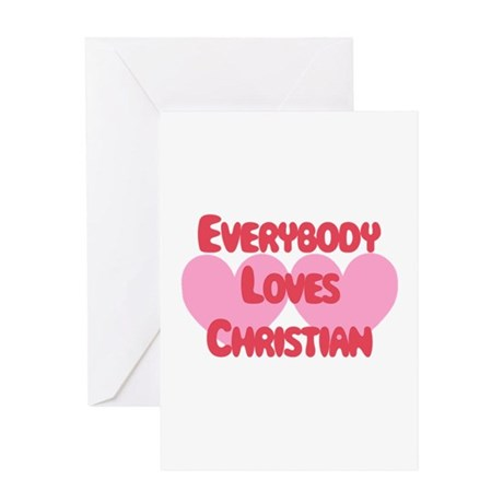Everybody Loves Christian Greeting Card