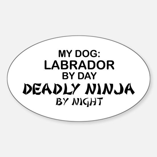 Lab Deadly Ninja by Night Oval Decal
