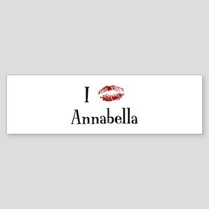 I Kissed Annabella Bumper Sticker