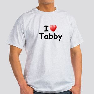 I Love Tabby (Black) Light T-Shirt