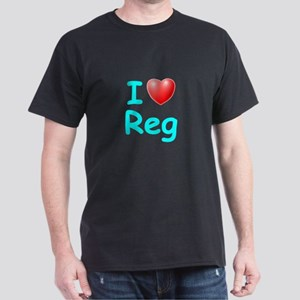 I Love Reg (Lt Blue) Dark T-Shirt