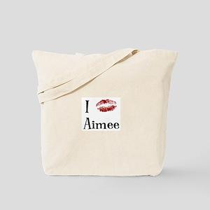 I Kissed Aimee Tote Bag