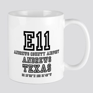 TEXAS - AIRPORT CODES - 7E11 - ANDREWS COUNTY Mugs