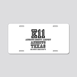TEXAS - AIRPORT CODES - 7E1 Aluminum License Plate
