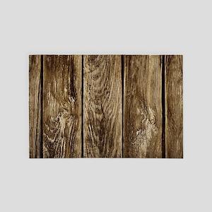 Rustic Wood Planks 4' x 6' Rug