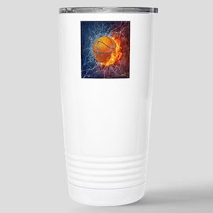 Flaming Basketball Ball Splash Mugs