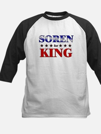SOREN for king Kids Baseball Jersey
