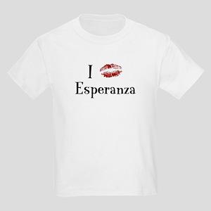 I Kissed Esperanza Kids Light T-Shirt