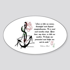 Love is an Anchor Oval Sticker
