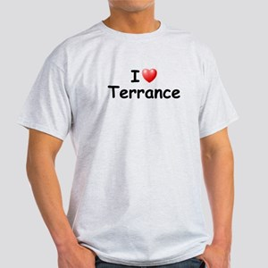 I Love Terrance (Black) Light T-Shirt