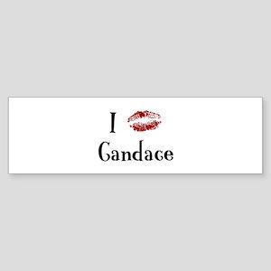 I Kissed Candace Bumper Sticker