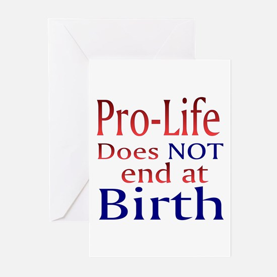 Greeting Cards (Pk of 10) - Pro-Life does NOT