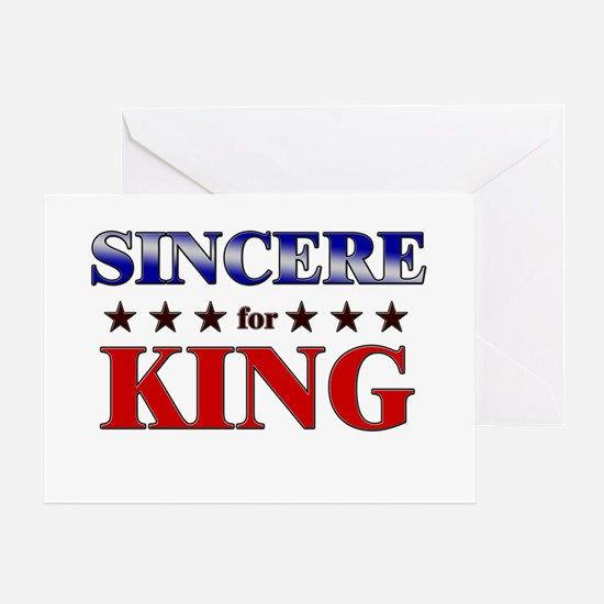 SINCERE for king Greeting Card