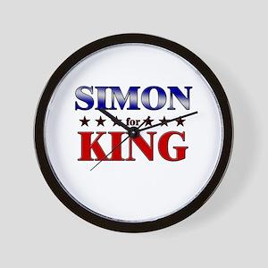 SIMON for king Wall Clock