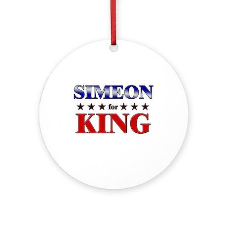 SIMEON for king Ornament (Round)