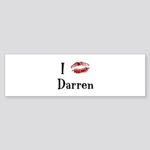 I Kissed Darren Bumper Sticker