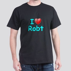I Love Robt (Lt Blue) Dark T-Shirt