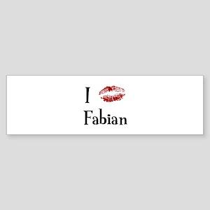 I Kissed Fabian Bumper Sticker