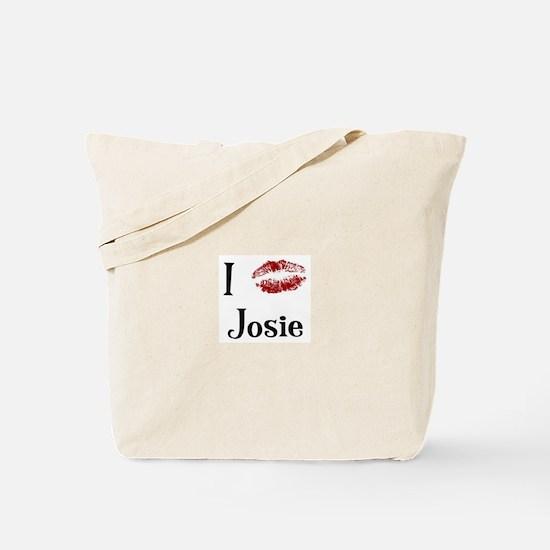 I Kissed Josie Tote Bag