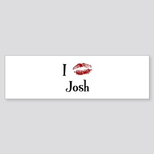 I Kissed Josh Bumper Sticker