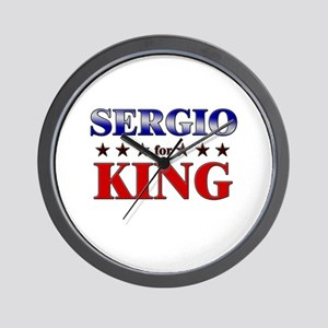 SERGIO for king Wall Clock