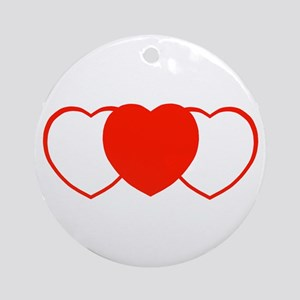 Sport Hearts Ornament (Round)